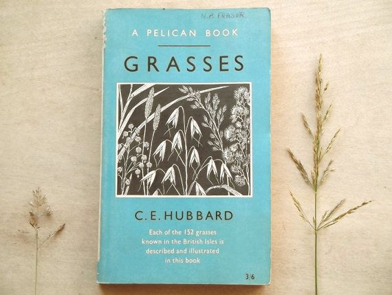 1950s vintage penguin British Grasses identification book by C. E. Hubbard on Etsy, $21.37