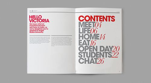 table of contexts like a magazine, goes with yearbook topic