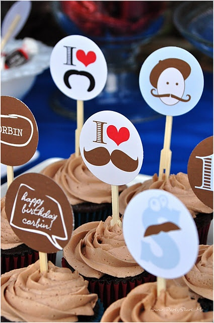 mustache bash - IBC root beer, red apples and choc covered marshmallows