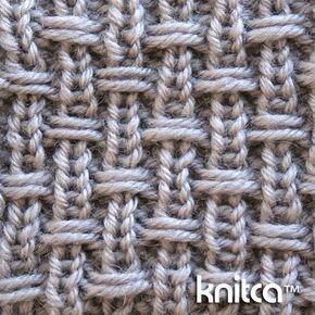Right side of knitting stitch pattern – Slip Stitch 14 : www.knitca.com Interesting on both sides
