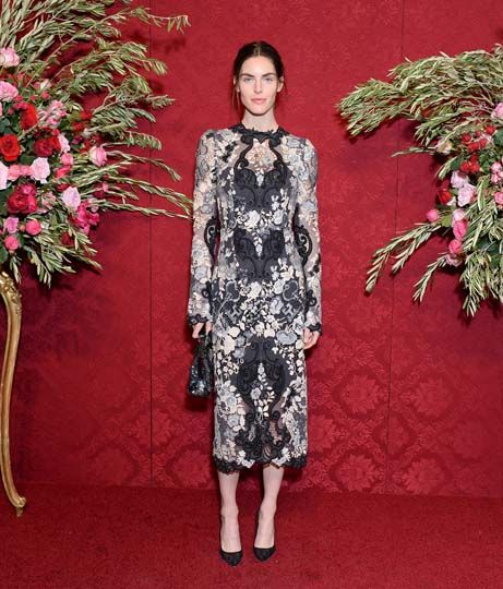 Hilary Rhoda looked gorgeous in Dolce & Gabbana at the Artwalk NY Benefit for the Coalition for the Homeless.