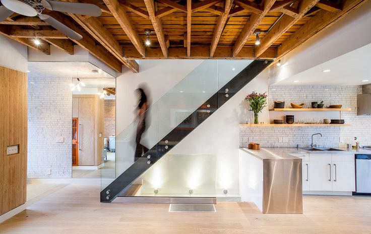 20 Smart Under Stairs Design Ideas: Exposed Conduit In Open Joists