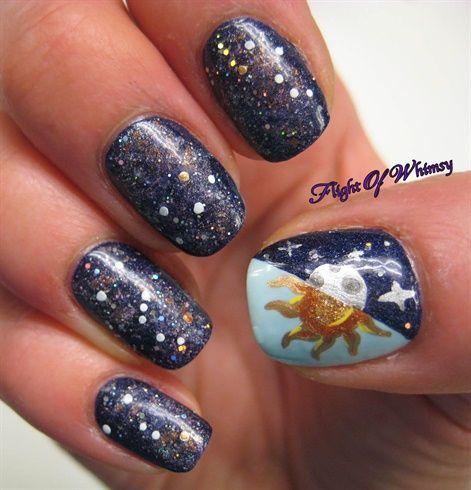 Constellations by flightofwhimsy - Nail Art Gallery nailartgallery.nailsmag.com by Nails Magazine www.nailsmag.com #nailart