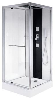 Cabine de douche black kubik magasin de bricolage brico for Cabine de douche brico depot