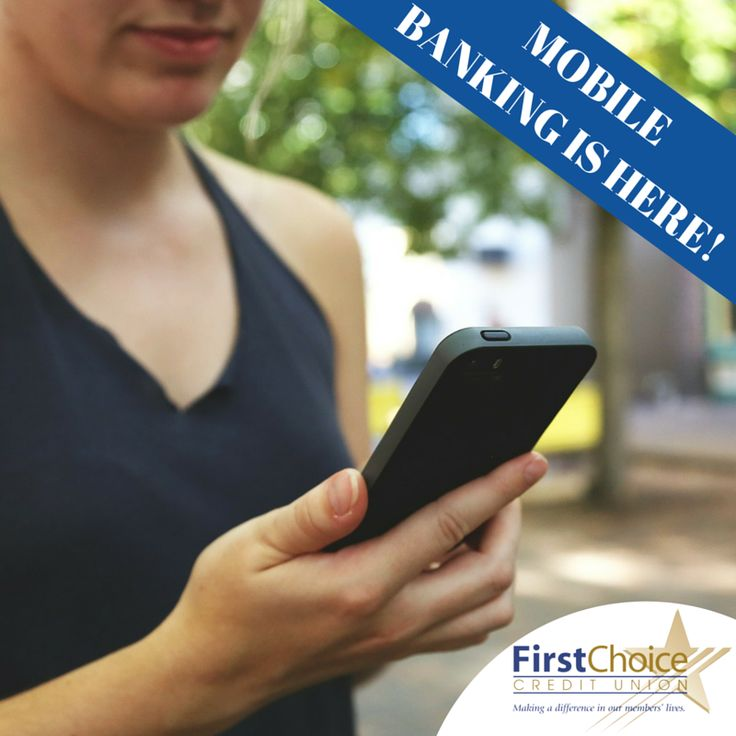 MOBILE BANKING IS HERE! Enjoy the freedom to view account balances, transfer funds, view transaction history, and pay #bills using your mobile phone or tablet from anywhere you can access the web. #FirstChoiceCU