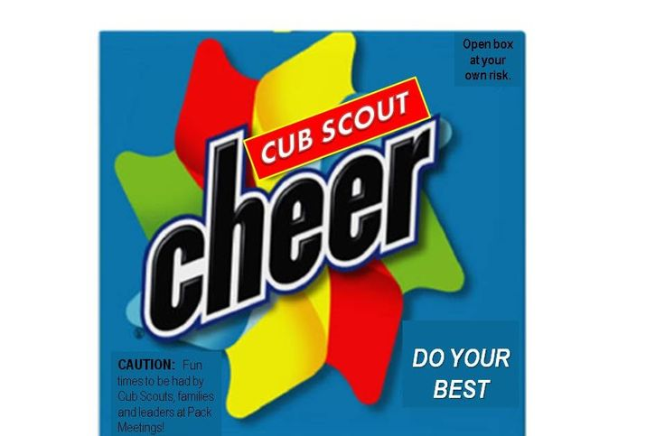 "I had a hard time finding a real Cheer box to buy to use to hold our ""cheers"" for Cub Scouts. I guess they don't offer High Efficiency Chee..."