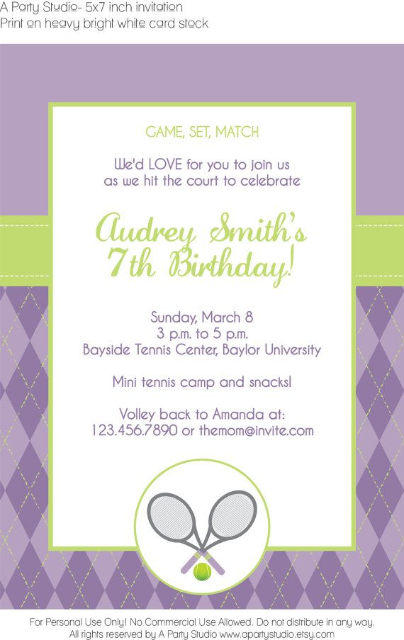 37 best Tennis Birthday ideas images on Pinterest | Tennis party ...