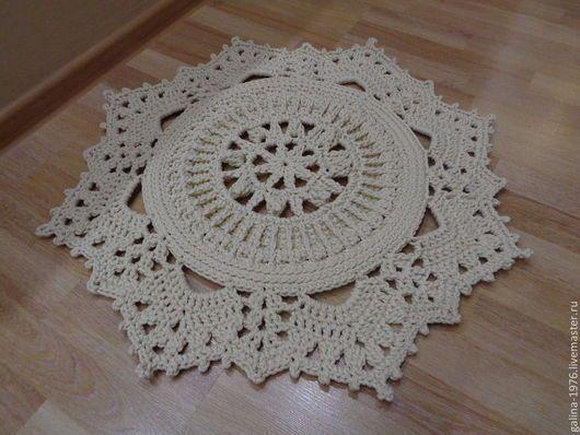 Текстиль, ковры ручной работы. Вязаный коврик
