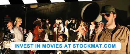 Invest in the movie business, be part of the industry by investing in movies at stockmat.com