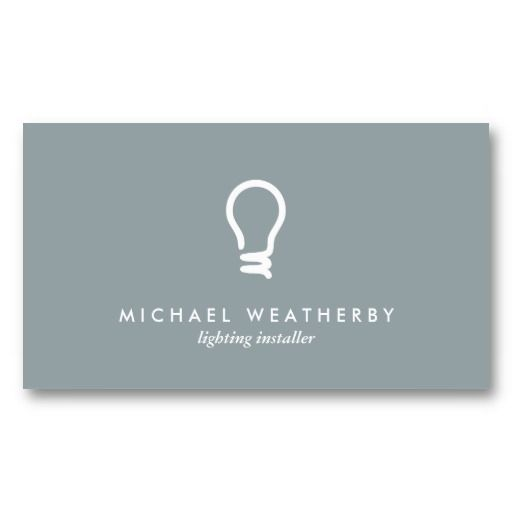 buisness cards with a light bulb   ... ELECTRICIAN LOGO LIGHTBULB on SLATE GRAY Business Cards at Zazzle.ca