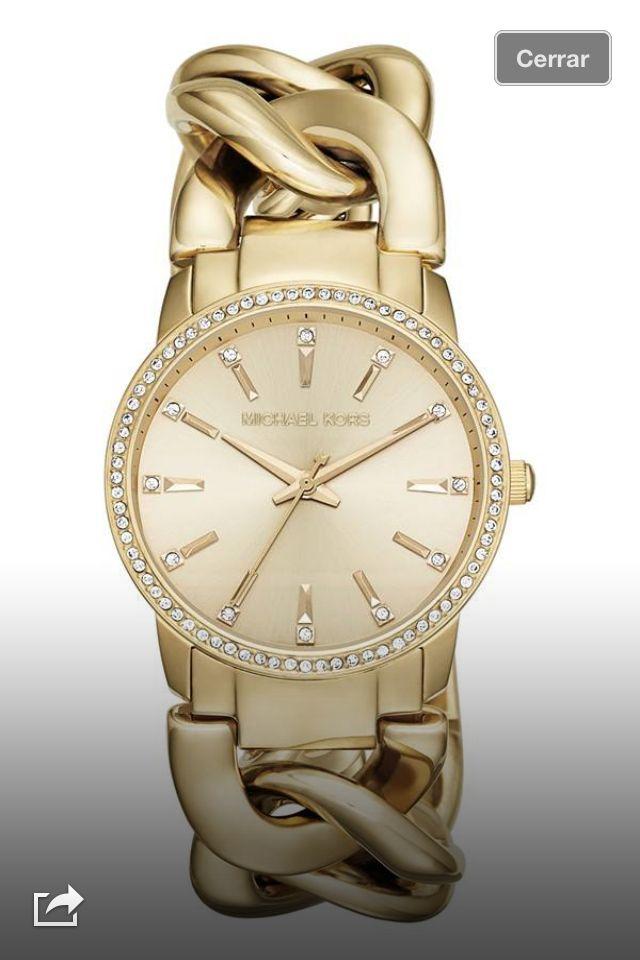Michael Kors \u0027Lady Nini\u0027 Chain Link Bracelet Watch, available at Nordstrom