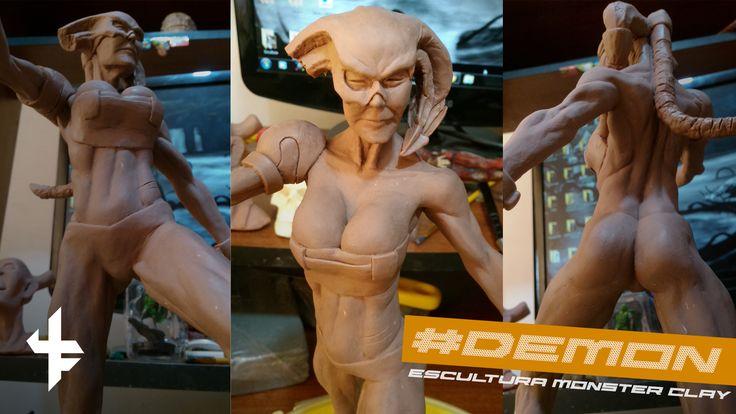 """Consulta mi proyecto @Behance: """"Escultura: Demon en Monster Clay"""" https://www.behance.net/gallery/45701949/Escultura-Demon-en-Monster-Clay"""