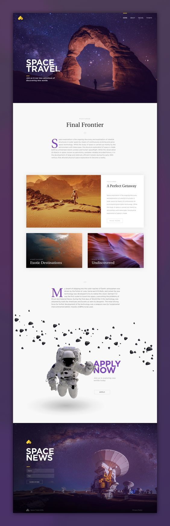Space Travel Web Design | Fivestar Branding – Design and Branding Agency & Inspiration Gallery