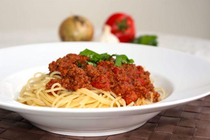 Spaghetti och köttfärssås