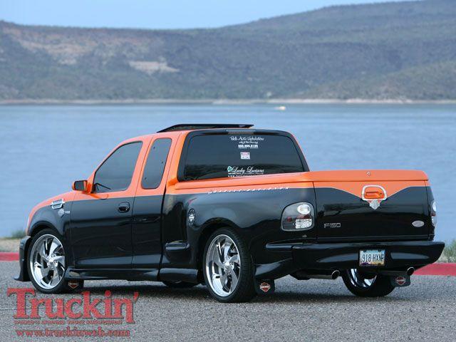 0904trweb 08 z 2000 ford f150 harley davidson left rear. Black Bedroom Furniture Sets. Home Design Ideas