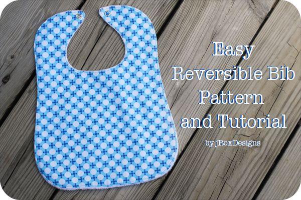 Free bib pattern! Includes toddler and infant sizes. #bib #pattern #tutorial