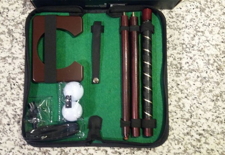 Travel Putting Golf Set New with travel case. Indoor golf set  Office golf set | Sporting Goods, Golf, Golf Accessories | eBay!