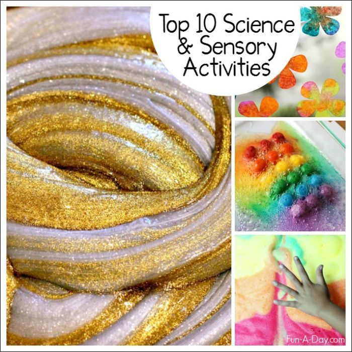 The top 10 sensory and science activities for kids from 2015, as decided by the amazing readers of Fun-A-Day! Check out 10 fun, engaging science activities!