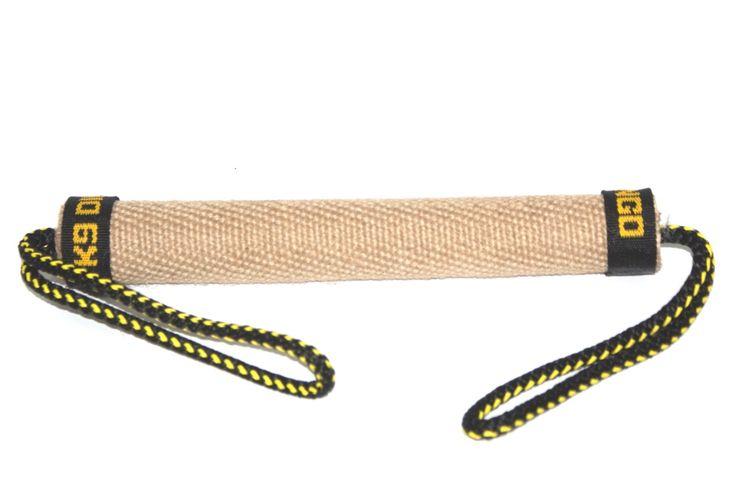 Gryzak z juty w kształcie walca z dwoma uchwytami, 3x25cm