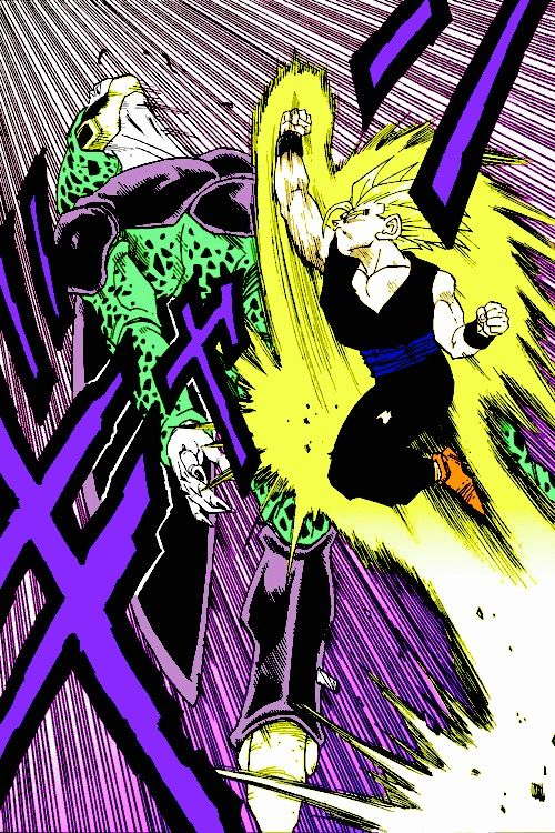 Gohan vs Cell- so epic, some day... Hopefully I can only dream to develop my own skills to draw manga!