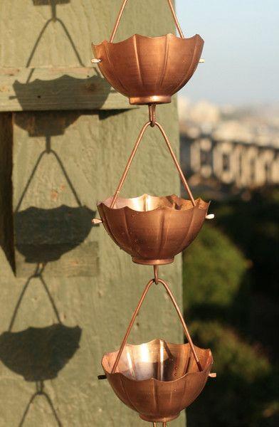 110 Best Images About Rain Chain On Pinterest Copper