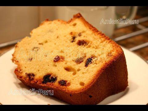 Queque, Cake, Keke  de mantequilla con vainilla Receta Basica 2016