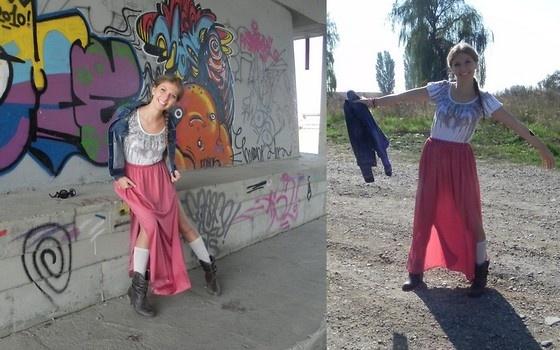 Zara Maxi Skirt, Mango T Shirt, Tommy Hilfiger Jeans Jacket, Stradivarius Boots aaibucketlist.wordpress.com/2012/10/16/boho/