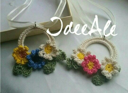 Lovely crochet pendant