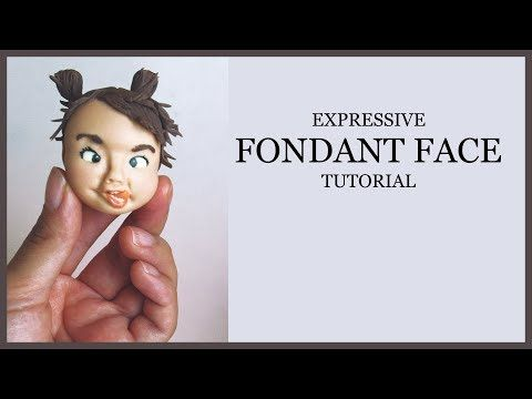 Expressive Fondant Face Tutorial: Modeling/Making,Painting,Adding Hair-Ponytails (Tongue Sticks Out) - YouTube