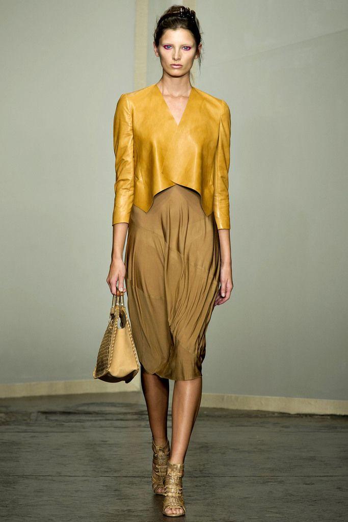 Mustard yellow dress donna karan