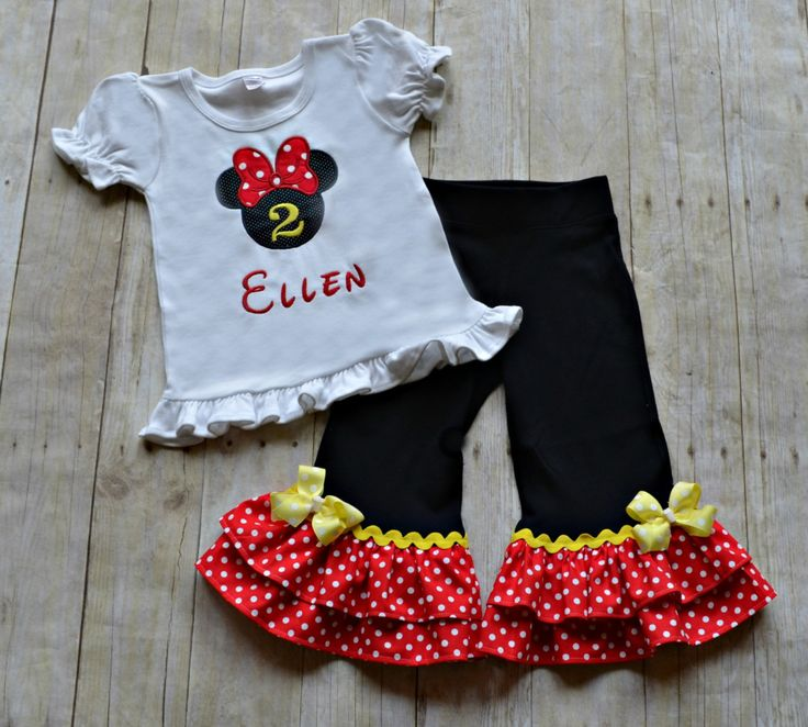 Red and Black Minnie Mouse Outfit  Minnie Mouse by KateandLulus, $45.00