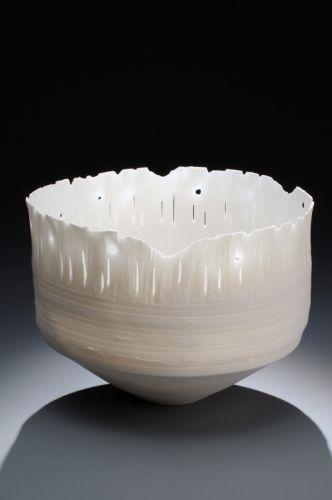 Carol Snyder wheel thrown altered porcelain