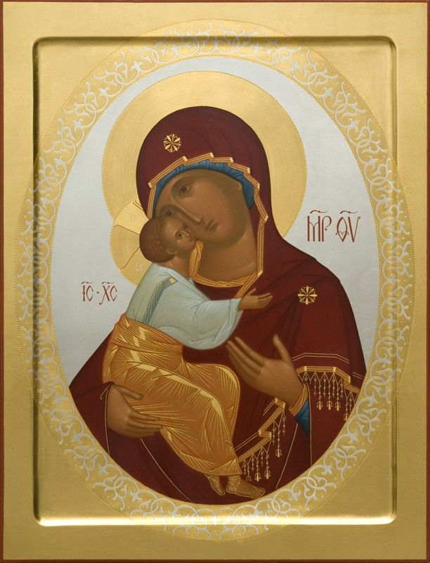 Mother of God of Zhirovichi - Hand-Painted Icon from the Workshop of St. Elisabeth Convent