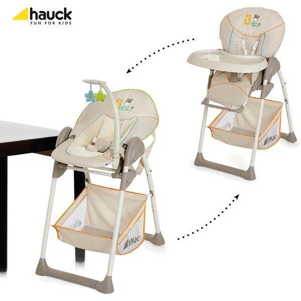 Chaise haute + transat Hauck Sit'n Relax bear beige - Collection 2016