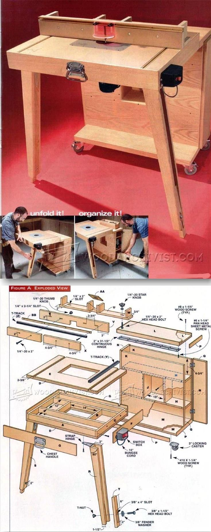 Mobile router table plans - Mobile Router Table Plans Router Tips Jigs And Fixtures Woodarchivist Com