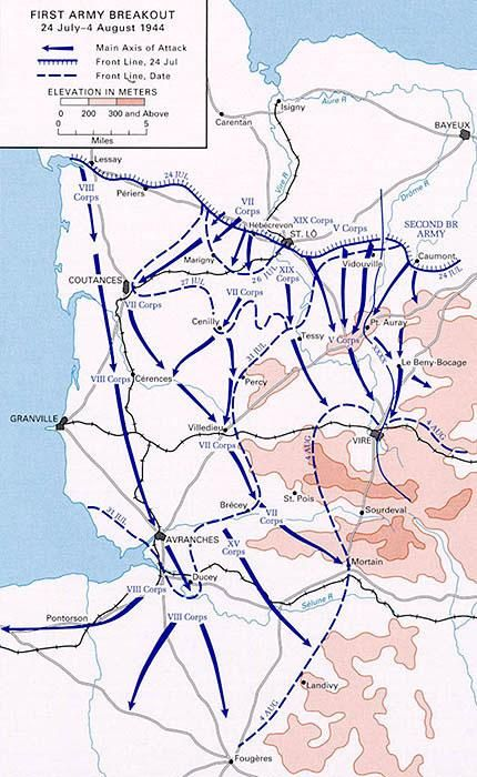 The overall unfolding of Operation Cobra and Patton's Break-out from Normandy…