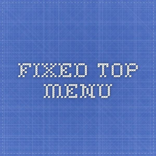Fixed Top Menu Javascript   CSS Pinterest - best of blueprint css menu