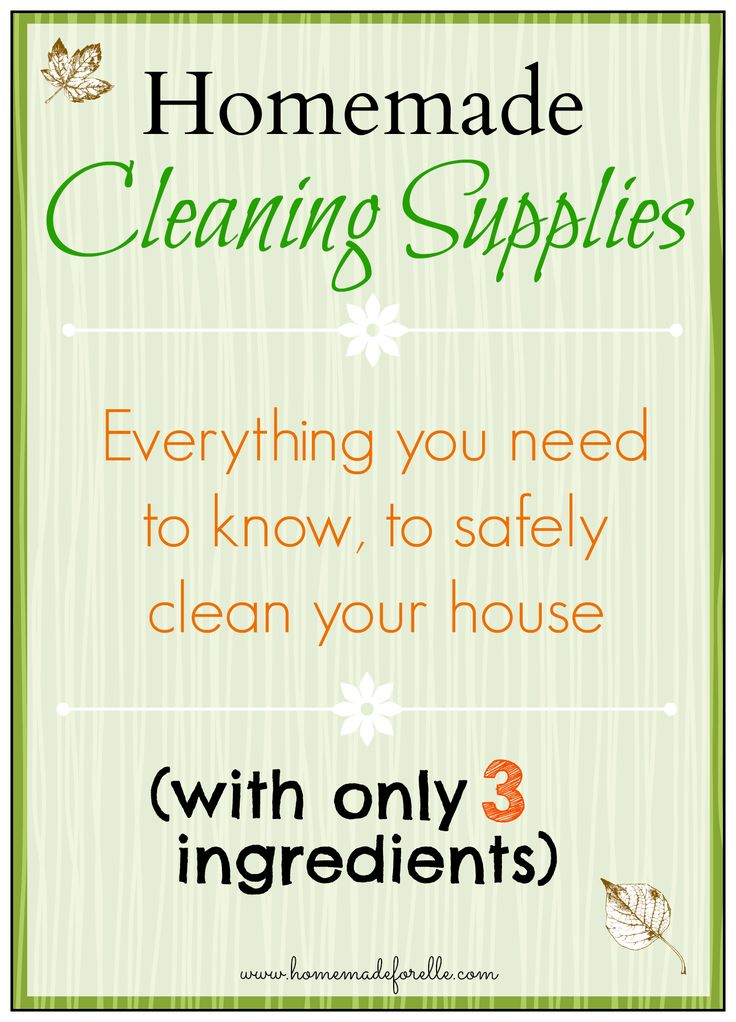 Homemade Cleaning Supplies - Homemade for Elle