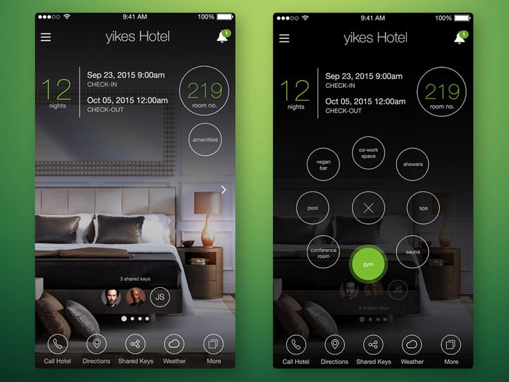 Hotel app by Mike Malewicz