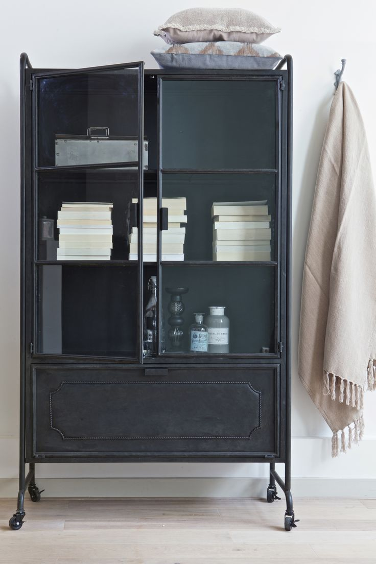Cabinet Steel storage. Soft plaids, metal, glass. BePureHome collection 2015/2016.