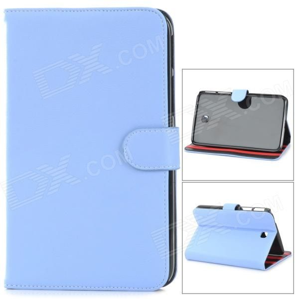 Brand: N/A; Quantity: 1 Piece; Color: Light blue; Material: PU leather; Style: Leather Cases; Type: For Tablets; Compatible Model: Samsung Galaxy Tab 3 T210; Other Features: Protects your device from scratches, dust and shock; Packing List: 1 x Protective case; http://j.mp/1BtGlLx