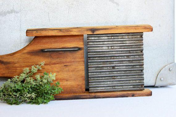 Vintage Wood and Metal Food Slicer // Julienne // by JulesTresors, $32.00