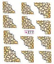 046 Nailart Nagelsticker 12 Aufkleber für Nägel Französisch Zebra Leopard