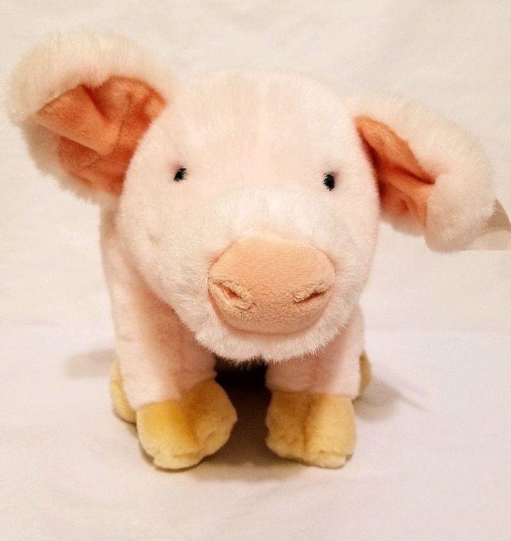 "Pig Toy Stuffed Plush Pink 11"" Farm Animal"