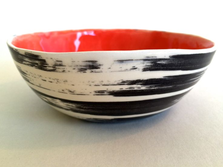 Fill it up with nuts or ice cream!  It will always be fun and cool.  Dessert Bowl is ceramic, microwave and dishwasher safe, freeform, signed and one of a kind. Great hostess gift. leawoodceramics