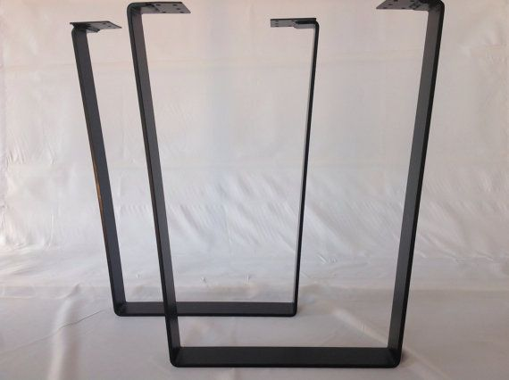 28 Trapezoid Table Legs Flat Steel POWDER COATED SET2 By Balasagun, $240.00
