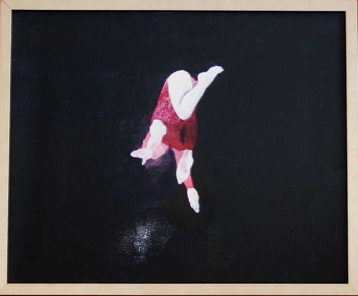 "Monika Smyła, ""Jump"", acrylic on canvas, polish art"