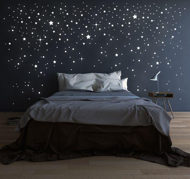 708+Stk+Leuchtsterne+Sterne+fluoreszierend+M1228+von+deinewandkunst+auf+DaWanda.com
