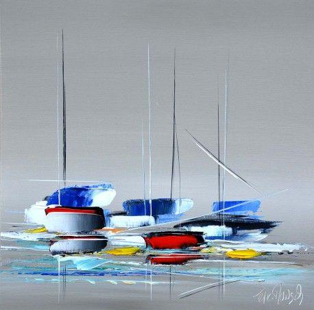 l 39 tendue moderne tableau pinterest tableau peinture et bateaux. Black Bedroom Furniture Sets. Home Design Ideas