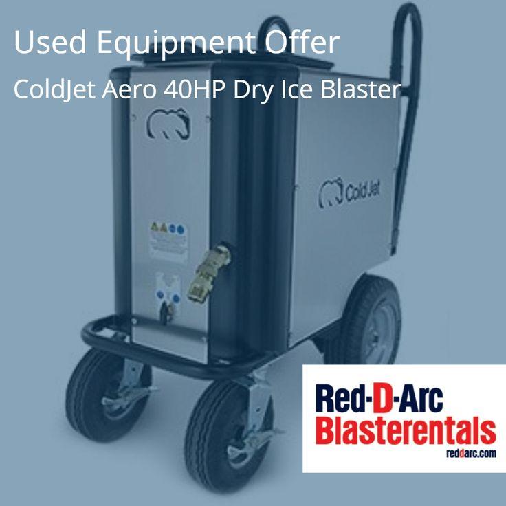 Offer: ColdJet Aero 40HP DryIce Blaster #Atlanta #Charlotte #Chicago #Dallas #BlastCleaning http://www.red-d-arc.com/used-equipment.aspx?&b=&c=US&s=&p=&pg=0&y=&CatID=50&sc=200&view=1